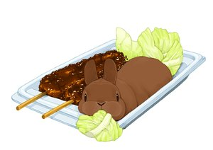 Rating: Safe Score: 10 Tags: animal food lilac_(pfeasy) nobody original rabbit waifu2x white User: otaku_emmy