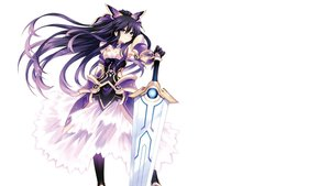 Rating: Safe Score: 112 Tags: armor black_hair bow date_a_live gloves long_hair photoshop purple_eyes scan see_through sword thighhighs tsunako weapon white yatogami_tohka User: Dummy