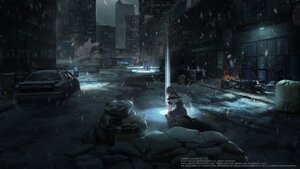 Rating: Safe Score: 45 Tags: anthropomorphism building city fire girls_frontline gray_hair night short_hair snow tagme_(artist) tom_clancy's_the_division vector_(girls_frontline) User: Nepcoheart