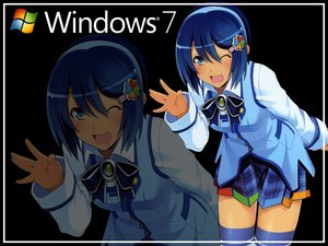 Rating: Safe Score: 6 Tags: blue_eyes blue_hair bow madobe_nanami microsoft os-tan short_hair skirt thighhighs windows wink zoom_layer User: Kumacuda
