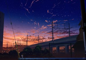 Rating: Safe Score: 77 Tags: building city clouds mocha_(cotton) nobody original scenic signed sky stars sunset User: RyuZU