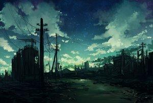 Rating: Safe Score: 61 Tags: clouds jin_yun original ruins scenic sky stars User: RyuZU