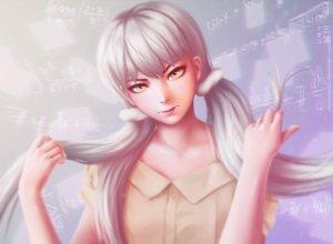 Rating: Safe Score: 80 Tags: gray_hair long_hair miura_naoko monogatari_(series) owarimonogatari sodachi_oikura yellow_eyes User: mattiasc02