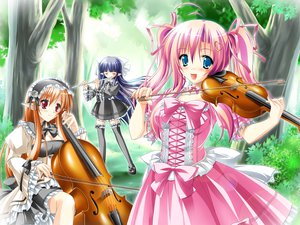 Rating: Safe Score: 29 Tags: flute instrument kamiya_tomoe pointed_ears violin User: korokun