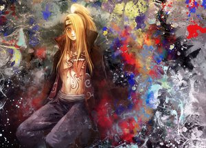 Rating: Safe Score: 36 Tags: all_male blonde_hair deidara long_hair male naruto ponytail User: Tensa