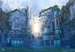 Rating: Safe Score: 19 Tags: building city k_kanehira nobody original polychromatic scenic stairs watermark User: FormX