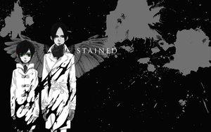 Rating: Safe Score: 9 Tags: blood monochrome nabari_no_ou rokujou_miharu wings yoite User: atlantiza