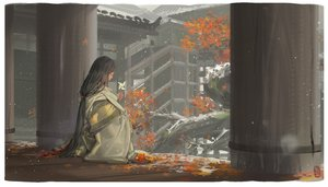 Rating: Safe Score: 59 Tags: alphonse autumn black_hair building divine_child_of_rejuvenation food fruit japanese_clothes kimono leaves long_hair ponytail sekiro:_shadows_die_twice signed snow stairs User: ssagwp