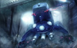 Rating: Safe Score: 99 Tags: ghost_in_the_shell jpeg_artifacts rain tachikoma water User: Xelief