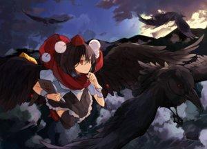 Rating: Safe Score: 73 Tags: animal bird book clouds hat miruto_netsuki scarf shameimaru_aya skirt thighhighs touhou wings zettai_ryouiki User: Flandre93
