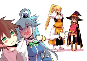 Rating: Safe Score: 28 Tags: aqua_hair aqua_(konosuba) bandage blonde_hair blue_eyes blush boots bow brown_eyes brown_hair cape darkness_(konosuba) dress gray_eyes group hat hitotose_rin kono_subarashii_sekai_ni_shukufuku_wo! long_hair male megumin ponytail pregnant satou_kazuma short_hair thighhighs white User: RyuZU