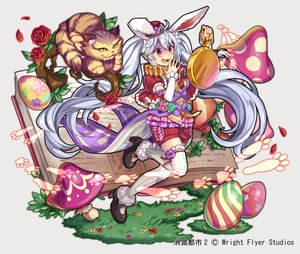Rating: Safe Score: 35 Tags: alice_in_wonderland animal animal_ears anthropomorphism blush book bunny_ears bunnygirl cat cheshire_cat collar flowers gray_hair hat long_hair nou red_eyes rose shorts shoumetsu_toshi tail thighhighs watermark white_rabbit zettai_ryouiki User: otaku_emmy