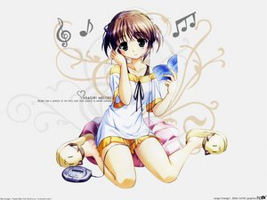 Rating: Safe Score: 37 Tags: asagiri_mai headphones signed yoake_mae_yori_ruri_iro_na User: Oyashiro-sama