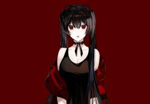 Rating: Safe Score: 71 Tags: aliasing bell black_hair choker fang long_hair naru_(ul) original red red_eyes ribbons twintails User: otaku_emmy