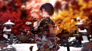 Rating: Safe Score: 86 Tags: atha autumn braids brown_eyes brown_hair cherry_blossoms flowers japanese_clothes kimono original tree User: Fepple