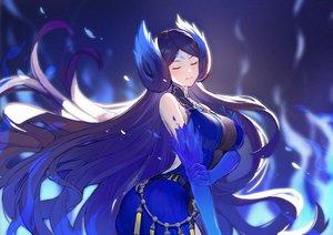 Rating: Safe Score: 86 Tags: ass boku_koyuki_mx breasts cleavage elbow_gloves gloves kagutsuchi_(xenoblade) long_hair purple_hair xenoblade User: Fepple