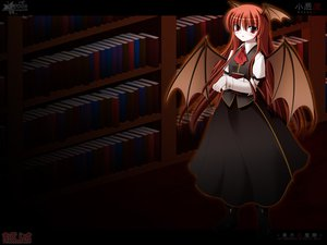 Rating: Safe Score: 10 Tags: book demon koakuma side_b touhou User: 秀悟