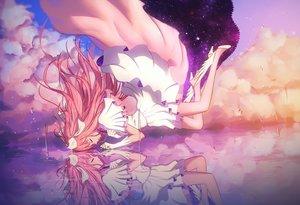 Rating: Safe Score: 261 Tags: clouds dress gloves kaname_madoka long_hair mahou_shoujo_madoka_magica mahou_shoujo_madoka_magica_movie maredoro pink_hair ultimate_madoka water wings User: Flandre93