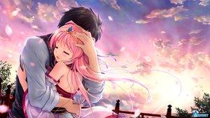 Rating: Safe Score: 84 Tags: august bekkankou blush clouds game_cg hug japanese_clothes long_hair male miyaguni_akari natsuno_io pink_hair sen_no_hatou_tsukisome_no_kouki sky tiara tokita_soujin User: mattiasc02