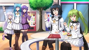 Rating: Safe Score: 63 Tags: animal_ears aqua_hair black_hair blush boots bow cake catgirl drink fang food fruit glasses gray_eyes green_hair group gun_gale_online hecate_(colette_hawkins) infinite_stratos kazenokaze long_hair original pantyhose purple_eyes purple_hair restia ribbons sarashiki_kanzashi scarf school_uniform seirei_tsukai_no_blade_dance shinon_(sao) strawberry sword_art_online thighhighs tree twintails white_hair yellow_eyes zettai_ryouiki User: luckyluna