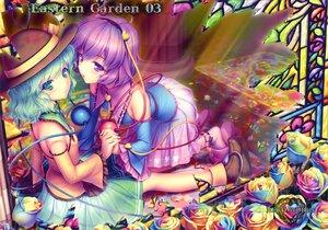 Rating: Safe Score: 69 Tags: 2girls flowers green_eyes green_hair komeiji_koishi komeiji_satori purple_eyes purple_hair sayori short_hair touhou User: Wiresetc