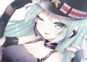 Rating: Safe Score: 51 Tags: close giryu hat hatsune_miku long_hair twintails vocaloid User: luckyluna