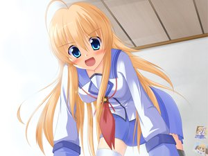 Rating: Safe Score: 40 Tags: angel_beats! blonde_hair blue_eyes irie_miyuki seifuku sekine_shiori User: HawthorneKitty