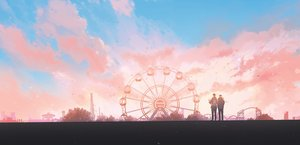 Rating: Safe Score: 53 Tags: all_male clouds hanasei male original scenic sky sunset User: FormX