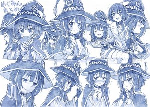 Rating: Safe Score: 140 Tags: blue collar food gloves hat kono_subarashii_sekai_ni_shukufuku_wo! mage megumin monochrome sakino_shingetu sketch staff witch witch_hat User: otaku_emmy