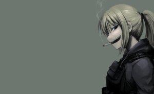 Rating: Safe Score: 96 Tags: armor blonde_hair hellshock long_hair original ponytail smoking suzumi_(hellshock) User: TommyGunn