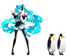 Rating: Safe Score: 36 Tags: animal aqua_eyes aqua_hair hatsune_miku kagamine_len kagamine_rin long_hair maki_(enpitsu) penguin thighhighs twintails vocaloid white zettai_ryouiki User: anaraquelk2