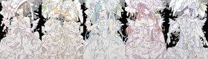 Rating: Safe Score: 28 Tags: bow dress flowers hat hatsune_miku kagamine_len kagamine_rin kaito male megurine_luka meiko vocaloid wristwear yoshiki User: FormX