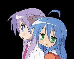 Rating: Safe Score: 14 Tags: 2girls blush cat_smile hiiragi_kagami izumi_konata lucky_star transparent vector User: Oyashiro-sama