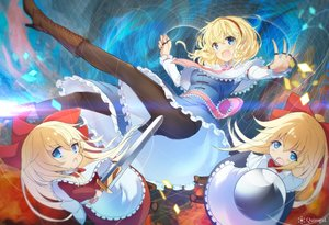 Rating: Safe Score: 28 Tags: alice_margatroid aqua_eyes blonde_hair blush doll hourai mage nasuno_chiyo pantyhose shanghai_doll short_hair sword tie touhou watermark weapon User: RyuZU