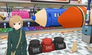 Rating: Safe Score: 28 Tags: aliasing animal blonde_hair brown_eyes cat original short_hair train yajirushi_(chanoma) User: Flandre93