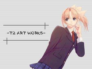 Rating: Safe Score: 21 Tags: after blue_eyes orange_hair ponytail school_uniform shiomiya_kanami taka_tony User: Oyashiro-sama