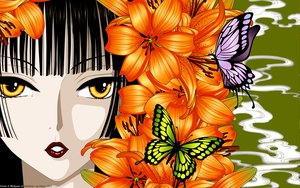 Rating: Safe Score: 62 Tags: butterfly clamp close flowers ichihara_yuuko japanese_clothes vector xxxholic User: gnarf1975