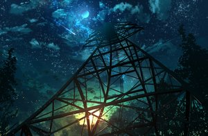Rating: Safe Score: 20 Tags: abisswalker8 moon night nobody original scenic sky stairs User: RyuZU