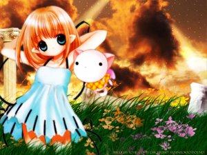 Rating: Safe Score: 1 Tags: bottle_fairy kururu oboro pointed_ears tokumi_yuiko User: Oyashiro-sama
