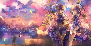 Rating: Safe Score: 58 Tags: animal bird cha_goma clouds dress flowers instrument leaves male original petals short_hair User: Flandre93