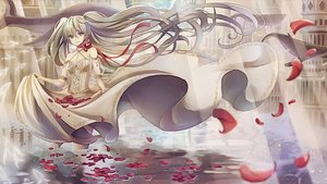 Rating: Safe Score: 30 Tags: dress hatsune_miku kapin long_hair petals ribbons twintails vocaloid water User: RyuZU