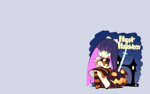 Rating: Safe Score: 40 Tags: halloween katana nagian panty_&_stocking_with_garterbelt stocking_(character) sword weapon User: SciFi