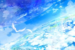 Rating: Safe Score: 137 Tags: animal bird clouds feathers nobody original scenic sky yatsude User: opai