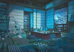 Rating: Safe Score: 87 Tags: aruken book drink kotatsu night nobody original paper scenic snow winter User: RyuZU