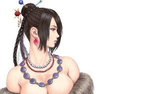 Rating: Safe Score: 42 Tags: black_hair braids breasts brown_eyes cleavage close final_fantasy final_fantasy_x long_hair lulu_(ffx) necklace shu-mai white User: otaku_emmy