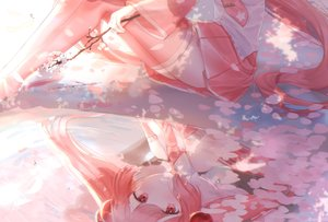 Rating: Safe Score: 42 Tags: cherry_blossoms flowers hatsune_miku long_hair nacho petals pink pink_eyes pink_hair reflection sakura_miku skirt thighhighs tie vocaloid water User: FormX
