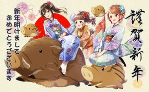 Rating: Safe Score: 15 Tags: animal_ears blush brown_hair flowers green_eyes houjou_karen idolmaster idolmaster_cinderella_girls japanese_clothes kamiya_nao kazu kimono long_hair orange_eyes ponytail red_eyes shibuya_rin User: RyuZU