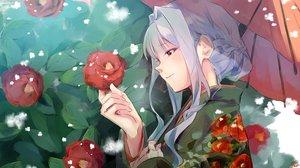 Rating: Safe Score: 34 Tags: close flowers idolmaster japanese_clothes kuzuya_ramurin shijou_takane short_hair sketch umbrella User: BattlequeenYume