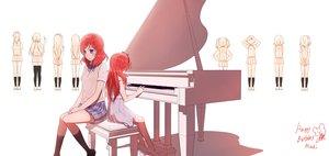 Rating: Safe Score: 91 Tags: 14_(vision5032) bow dress instrument love_live!_school_idol_project nishikino_maki piano pink_eyes red_hair school_uniform skirt white User: Flandre93