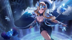 Rating: Safe Score: 101 Tags: blonde_hair blue breasts cleavage dress yueyue User: FormX